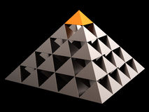 abstrakt finansiell hög pyramid res Royaltyfria Bilder