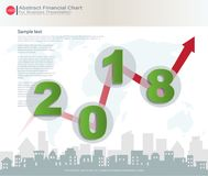 Abstrakt finansiellt diagram med uptrendlinjen graf Royaltyfri Bild