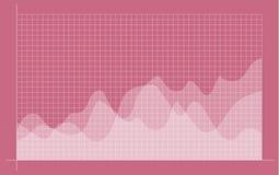 Abstrakt finansiellt diagram med uptrendlinjen graf royaltyfri illustrationer