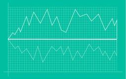 Abstrakt finansiellt diagram med uptrendlinjen graf och nummer i aktiemarknad vektor illustrationer