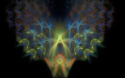 Abstrakt firebird i mörkret Royaltyfri Bild