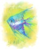 Abstrakt fiskakvarium illustration Arkivbilder