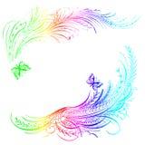 abstrakt fjädrar Arkivbild