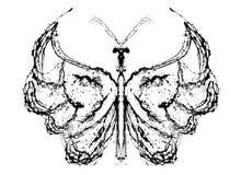 Abstrakt fjäril Arkivbilder