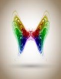 abstrakt fjäril vektor illustrationer
