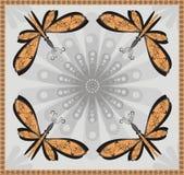 abstrakt fjärilsprydnad Arkivfoto
