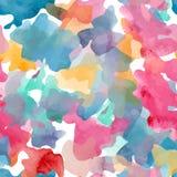 Abstrakt fläck för suddighet för modell för vattenfärgbakgrundstextur Arkivbilder