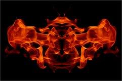 abstrakt flamma Arkivbilder