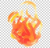 Abstrakt flamma av rött och gult som målas stock illustrationer