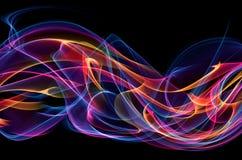 Abstrakt flammabakgrund Royaltyfri Fotografi