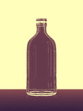Abstrakt flaska på golv Arkivfoto