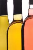 abstrakt flaskor stänger tre upp wine Royaltyfria Bilder