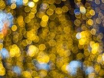 Abstrakt flerfärgad bokehljuseffekt Arkivbilder