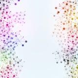 Abstrakt flerfärgad nätverksbakgrund Royaltyfri Bild