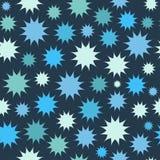Abstrakt flerfärgad stjärnafyrverkeribakgrund cirklar mönsan seamless Royaltyfri Fotografi