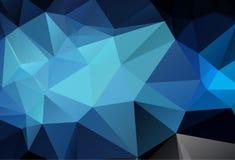 Abstrakt flerfärgat mörker - blå geometrisk rufsad till triangulär låg poly bakgrund för diagram för stillutningillustration Vekt stock illustrationer