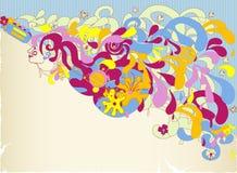 abstrakt flickagitarr Royaltyfri Bild