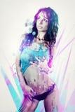 abstrakt flickaståendebarn Royaltyfria Foton