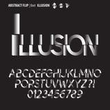 Abstrakt Flip Alphabet och siffravektor stock illustrationer