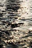 Abstrakt flod med mousserande ljus Arkivbilder