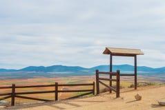 Abstrakt flyg- panorama- bästa sikt av en landslantgårdagricultura Royaltyfri Foto