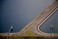 abstrakt flygbild arkivfoton