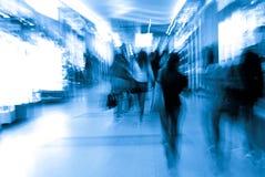abstrakt folk för affärsstadsfolkmassa Arkivbilder