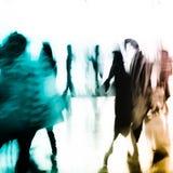 abstrakt folk för bakgrundsaffärsstad Royaltyfri Fotografi