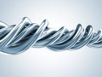 Abstrakt form för metall 3d royaltyfri illustrationer