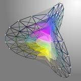 Abstrakt form prack linjer förbindelse till diagram netto Royaltyfria Bilder