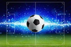 Abstrakt fotbollbakgrund Arkivfoton