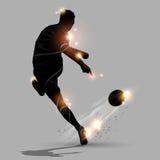 Abstrakt fotbollhastighetsfors Royaltyfria Bilder