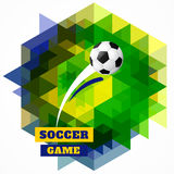Abstrakt fotbollkonst royaltyfri illustrationer