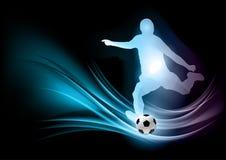 abstrakt fotbollsspelare vektor illustrationer