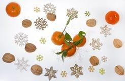 Abstrakt foto för julmandariner Arkivbild