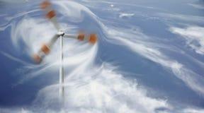 Abstrakt fotografi av vindturbinen Fotografering för Bildbyråer