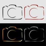 Abstrakt fotografikamera Arkivbilder