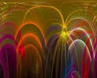 Abstrakt fractal, dynamisk utstråla mörk explosion för design för explosionfantasifantasi som är fantastisk royaltyfri illustrationer