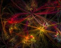 Abstrakt fractal, dynamisk utstråla mörk overklig explosion för design för explosionfantasifantasi som är fantastisk vektor illustrationer