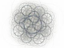 Abstrakt fractal för grå färger Royaltyfri Foto