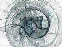 Abstrakt fractal med den runda modellen av kurvor Arkivbild