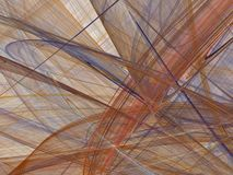 Abstrakt fractal med färgrika krökta linjer och vågor Arkivfoto