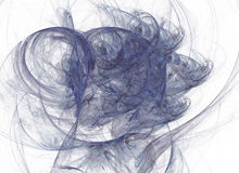 Abstrakt fractal på en vit bakgrund Digital collage stock illustrationer