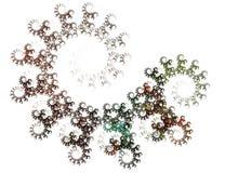 Abstrakt fractal på vit bakgrund Royaltyfri Foto