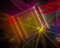 Abstrakt fractal, vibrerande dynamisk yttersida som utstrålar för fantasifantasi för vetenskap som den mörka explosionen för desi stock illustrationer
