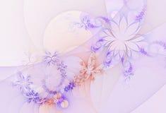 Abstrakt fractalbakgrund, blommor Arkivbilder