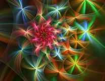 Abstrakt fractalblomma Royaltyfri Fotografi