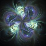Abstrakt fractalblomma på svart bakgrund Royaltyfria Bilder