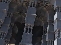 Abstrakt Fractaldesign för främmande pelare Royaltyfri Foto