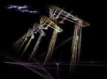 Abstrakt fractaldesign, virtuell verklighet Arkivbild